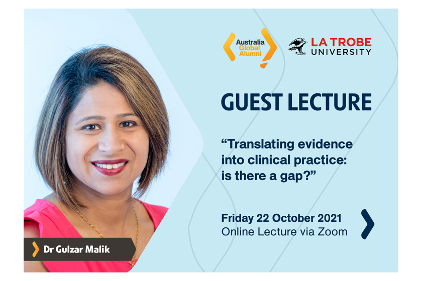 """Let's Join Our Online Lecture on """"Translating evidence into clinical practice: is there a gap?"""""""