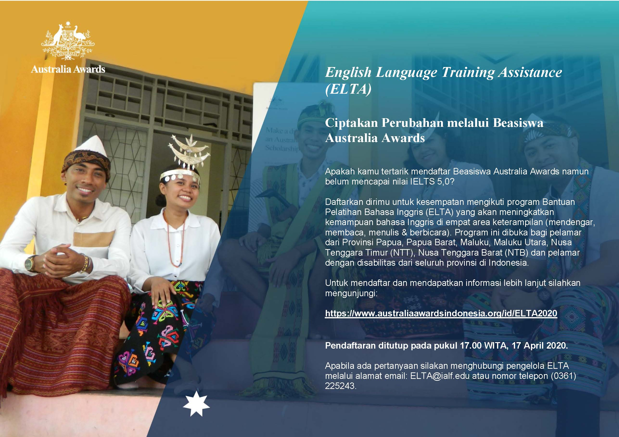 Applications Open for the English Language Training Assistance