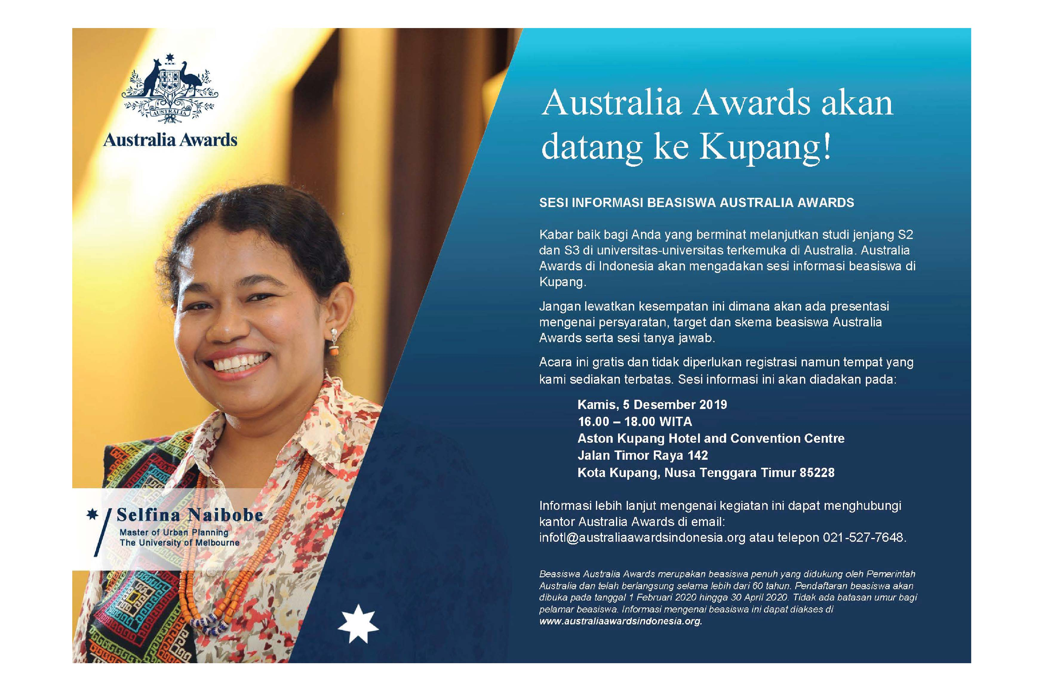 Australia Awards Postgraduate Scholarships Info Session in Kupang