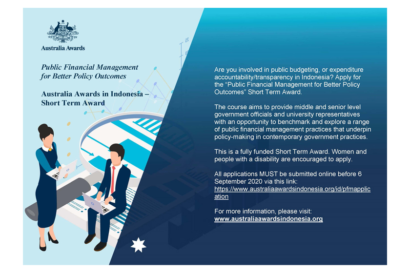 Applications Open for the Public Financial Management for Better Policy Outcomes Short Term Award