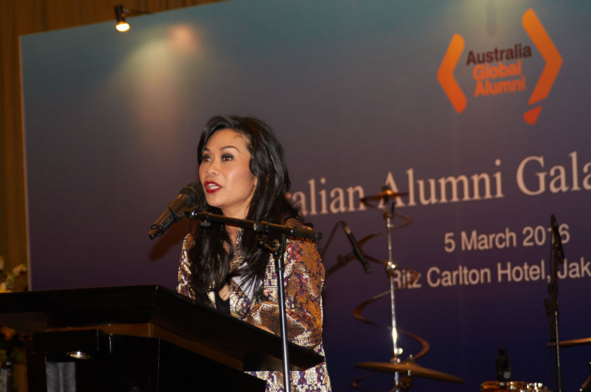President Director of Blue Bird Group Ms Noni Purnomo as a key speaker at Australian Alumni Gala Dinner 2016