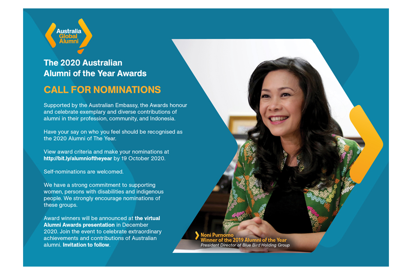 Call for Applications: The 2020 Australian Alumni of The Year Awards