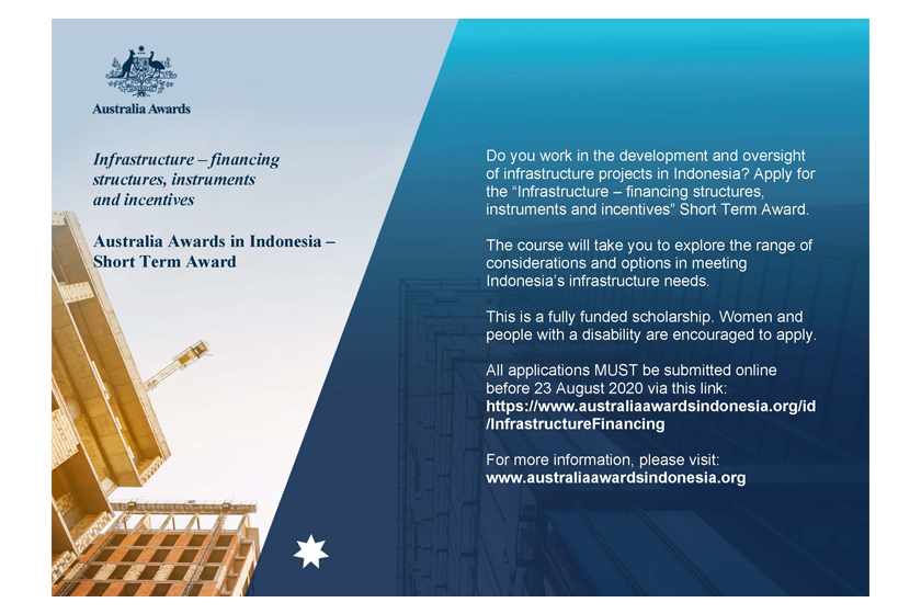 Applications Open for the Infrastructure – Financing Structures, Instruments and Incentives Short Term Award