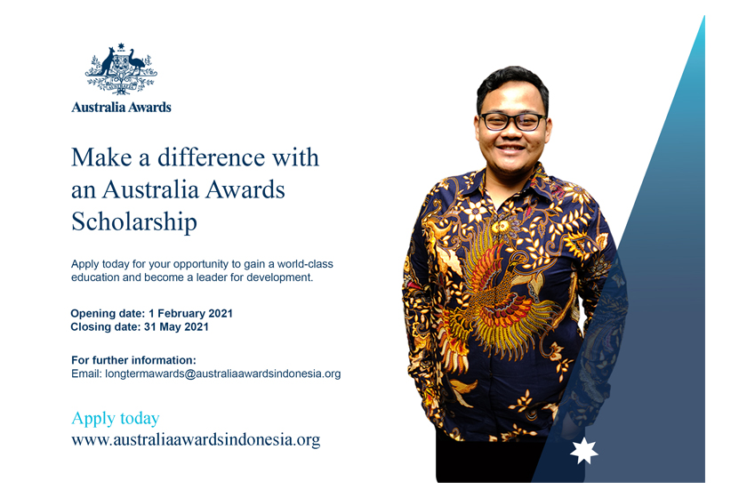 The Deadline to Submit Australia Awards Scholarships' Application Has Been Extended to 31 May 2021