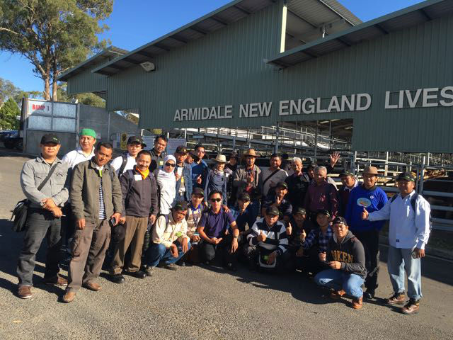 Participants of the Meat Production, Processing and Supply Chain Management Course 2016 in Australia